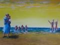 Strandtafereel - Spelen aan zee