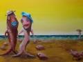 Strandtafereel - Vissenfamilie